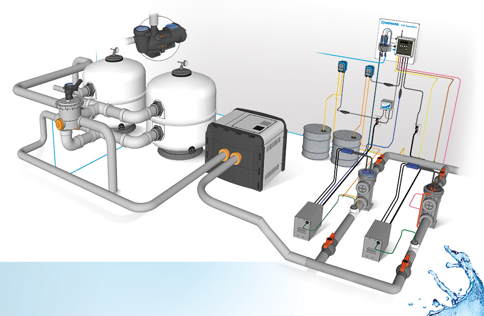 Hendese m hendislik pool systems for Swimming pool heating system design